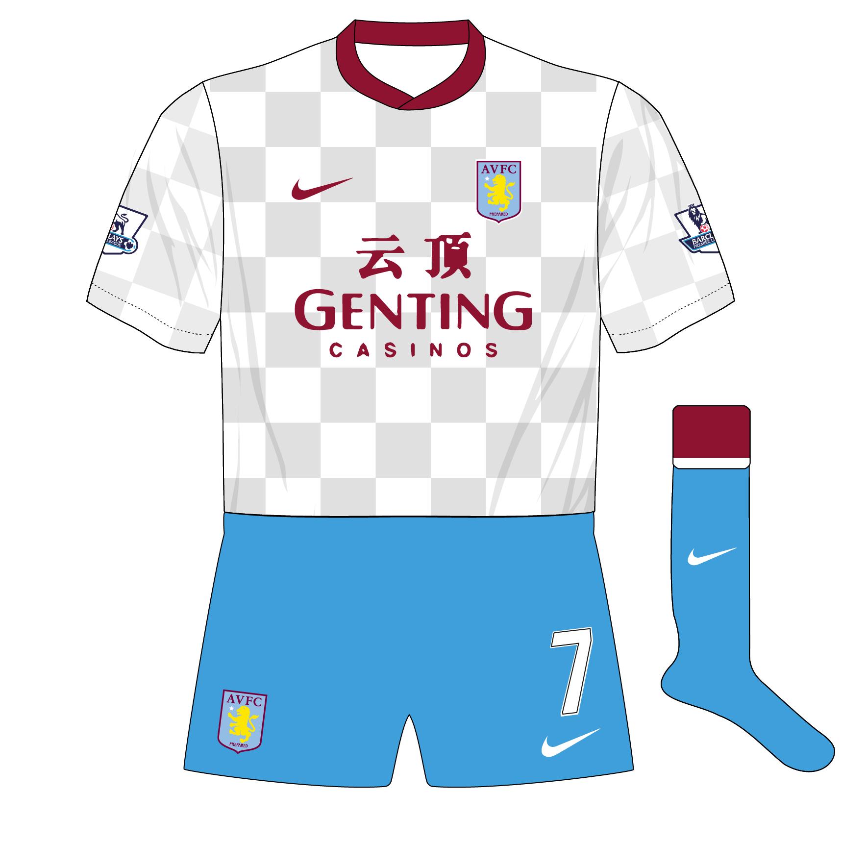 db4b5f172 Aston Villa s nine kit combinations in 2011-12 – Museum of Jerseys