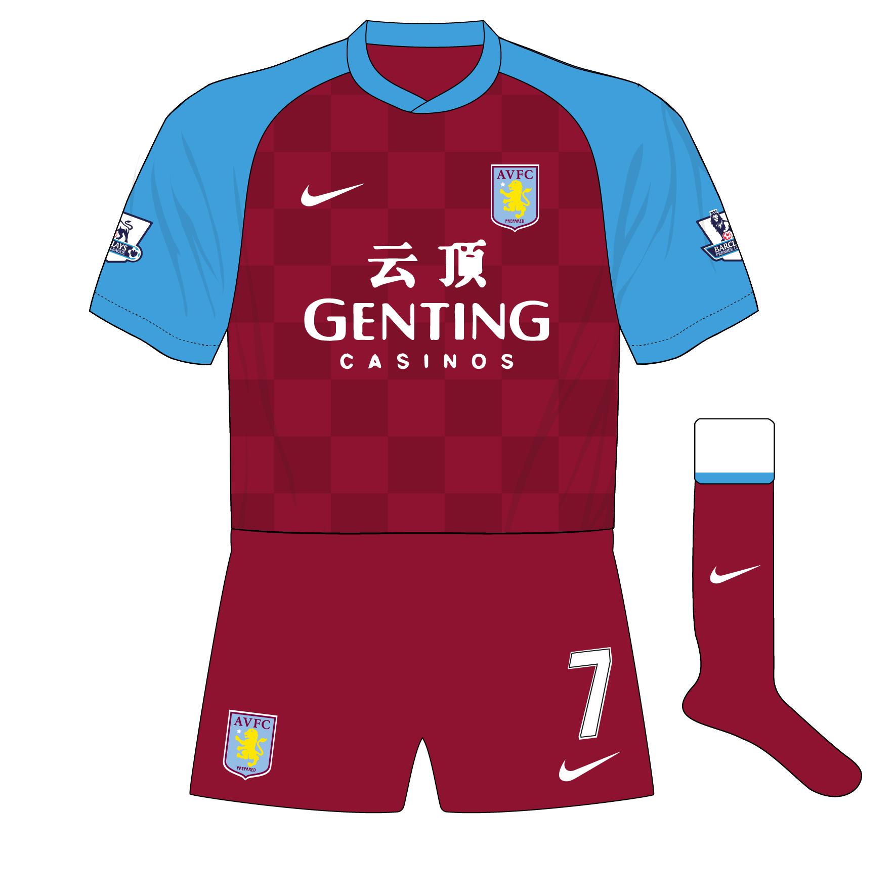 hot sales f4152 6300f Aston Villa s nine kit combinations in 2011-12