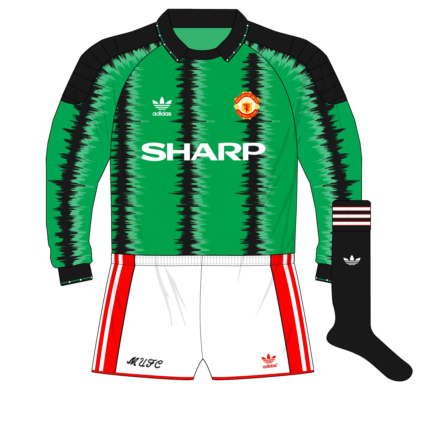sale retailer 38b17 f3831 adidas-Manchester-United-green-goalkeeper-shirt-jersey-1990 ...