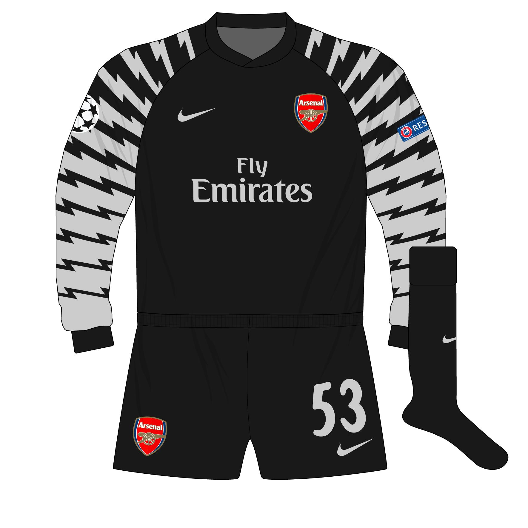 89e89a4a3f9 Arsenal-Nike-2010-2011-black-goalkeeper-shirt-kit-Szczesny-Barcelona ...