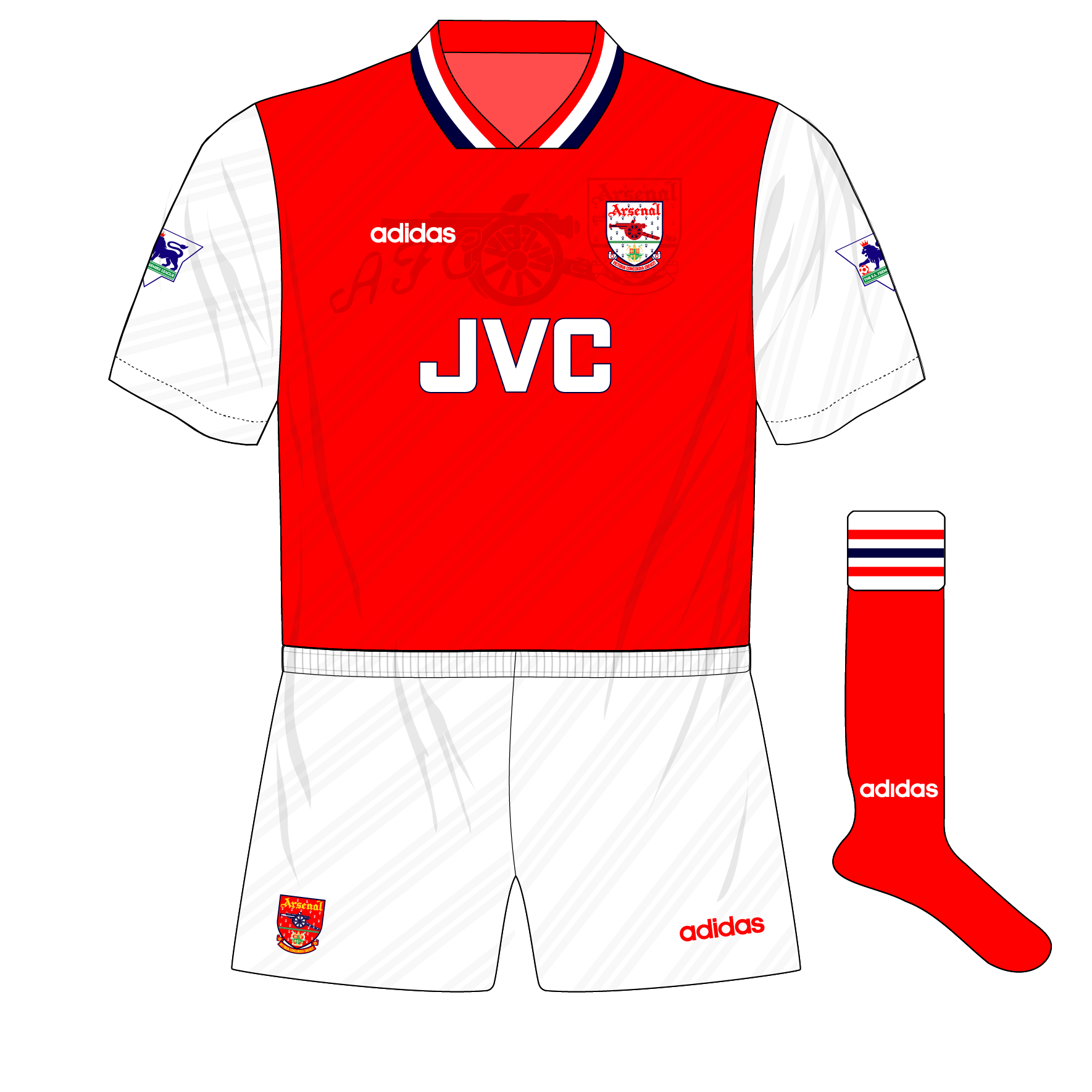 bcbf5e7da1d Fantasy Kit Friday, 15-9-17 – Arsenal in adidas, 1994 – Museum of Jerseys