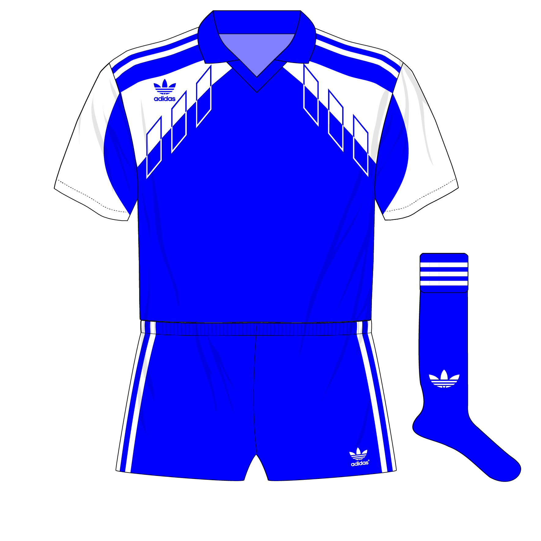 947bfa903 Romania-adidas-1990-blue-01  u2013 Museum of Jerseys