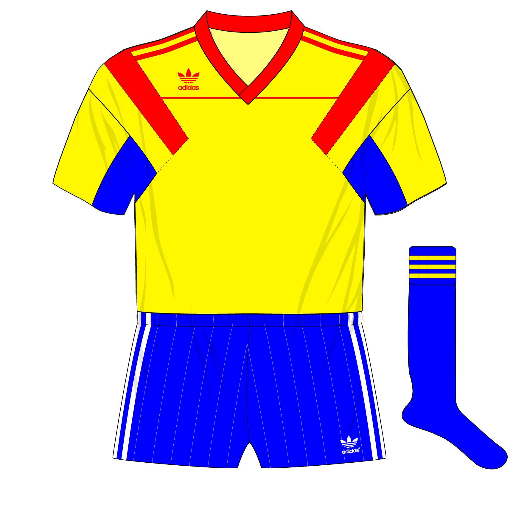 5685a9c2c Romania-adidas-1990-home-World-Cup-Belgium-friendly-blue-socks-01 .