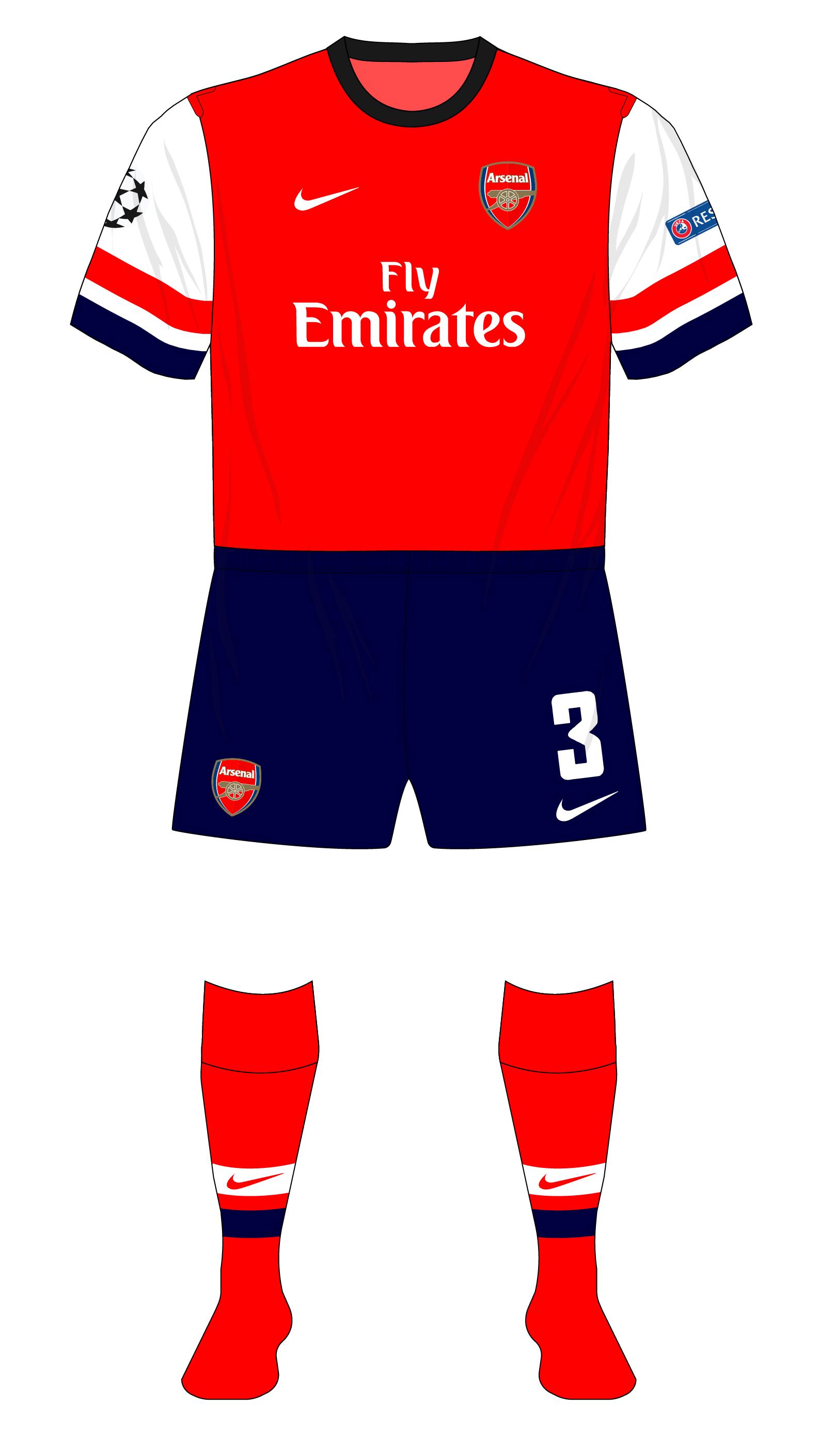 2014 2013 Fenerbahce Arsenal Kit Navy Nike Shorts 01 Home 57w1x