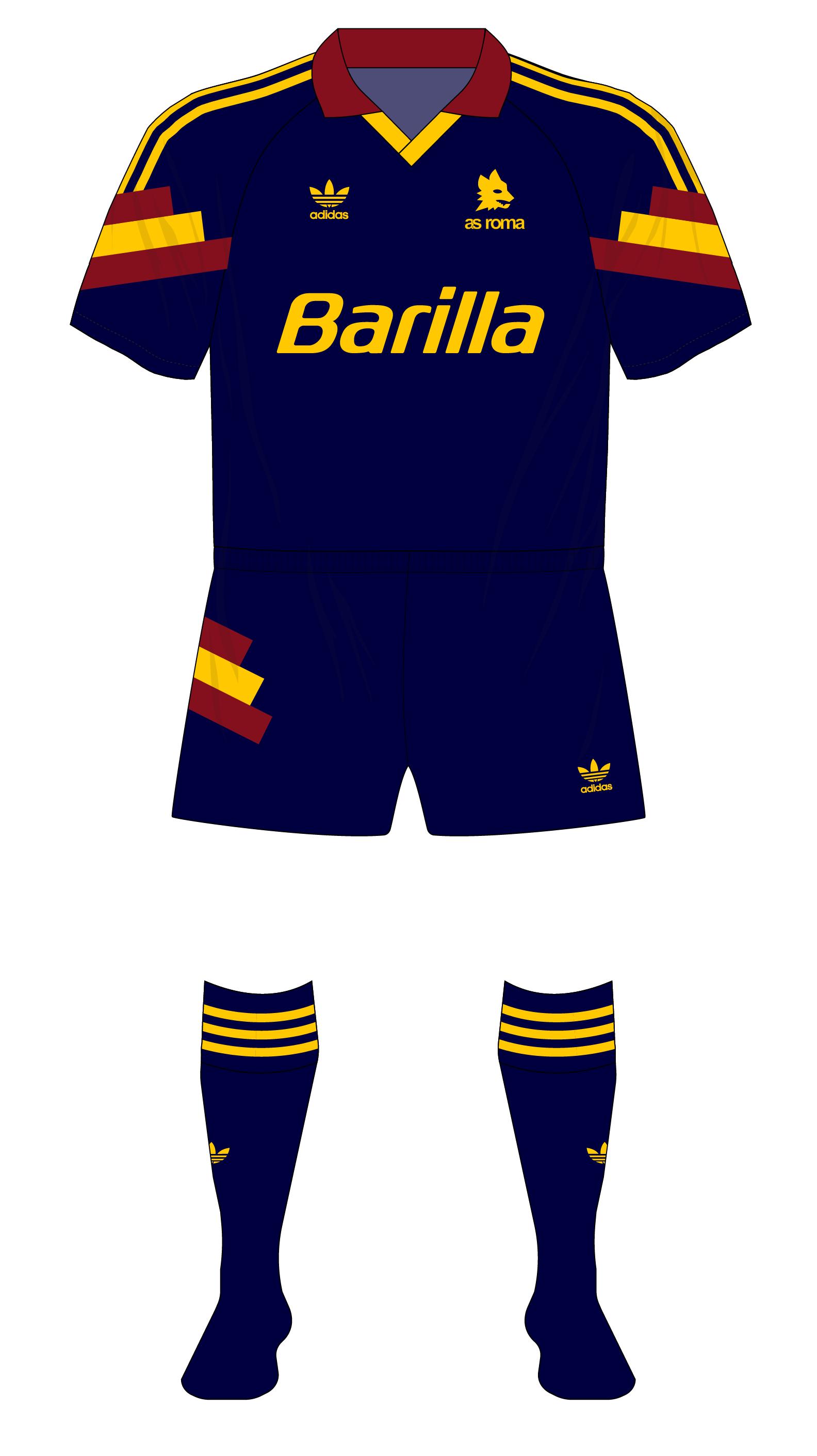 medallista Buzo Secretario  Great one-offs – Roma third kit, 1991-92 – MuseumofJerseys.com