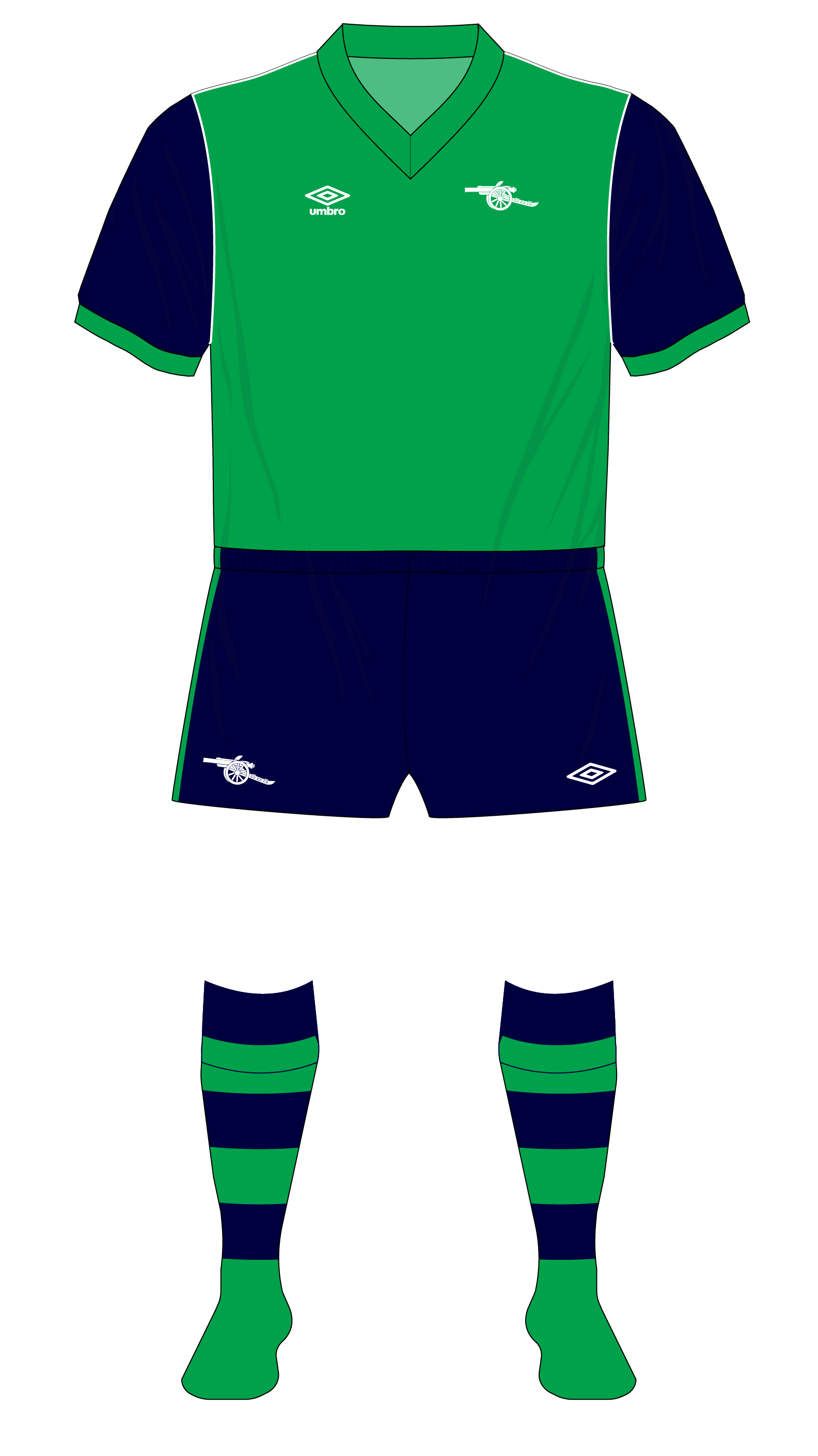 pretty nice 8b737 db111 Arsenal-1982-1983-away-kit-green-Spartak-Moscow-01 – Museum ...