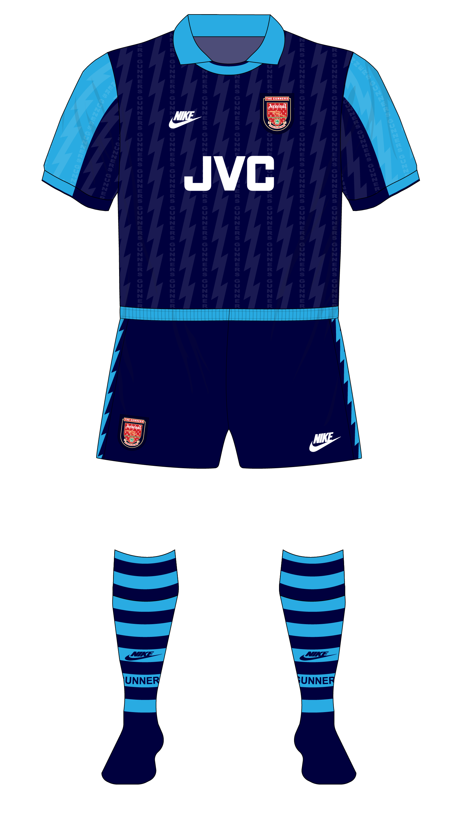 best service cea41 59e11 Arsenal-1994-1995-Nike-away-kit-Milan-Super-Cup-01 – Museum ...