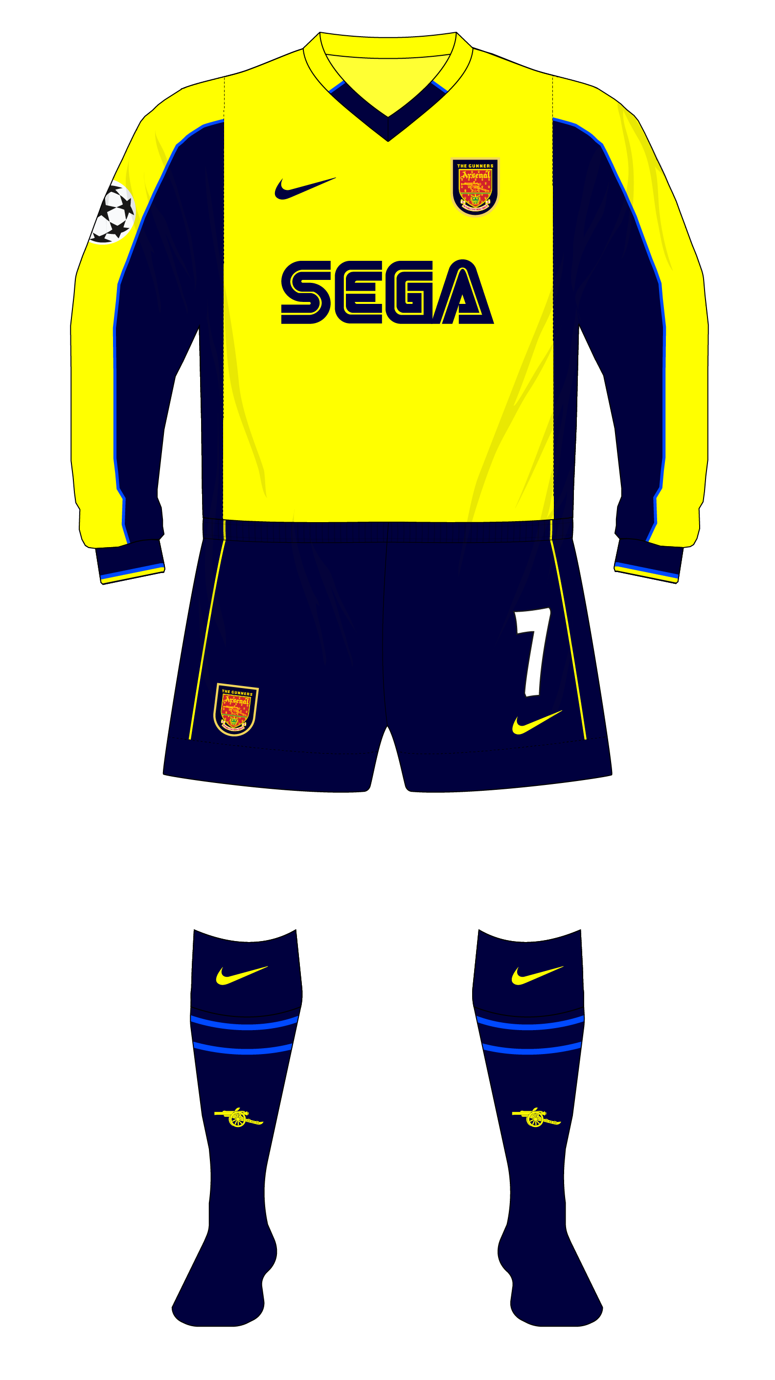 quality design 6a6f7 ca497 Arsenal-2000-2001-Nike-away-kit-Bayern-Champions-League-01 ...