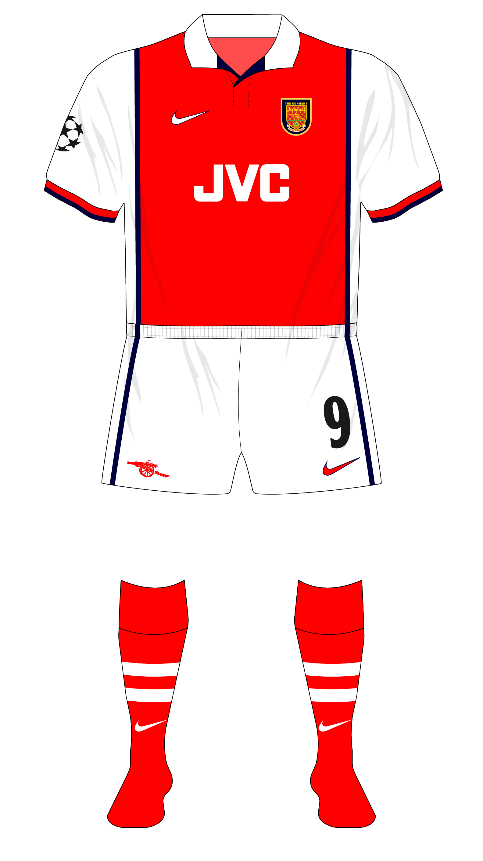 fe72959e560 Arsenal-1998-1999-Nike-home-kit-Panathinaikos-01 – Museum of Jerseys