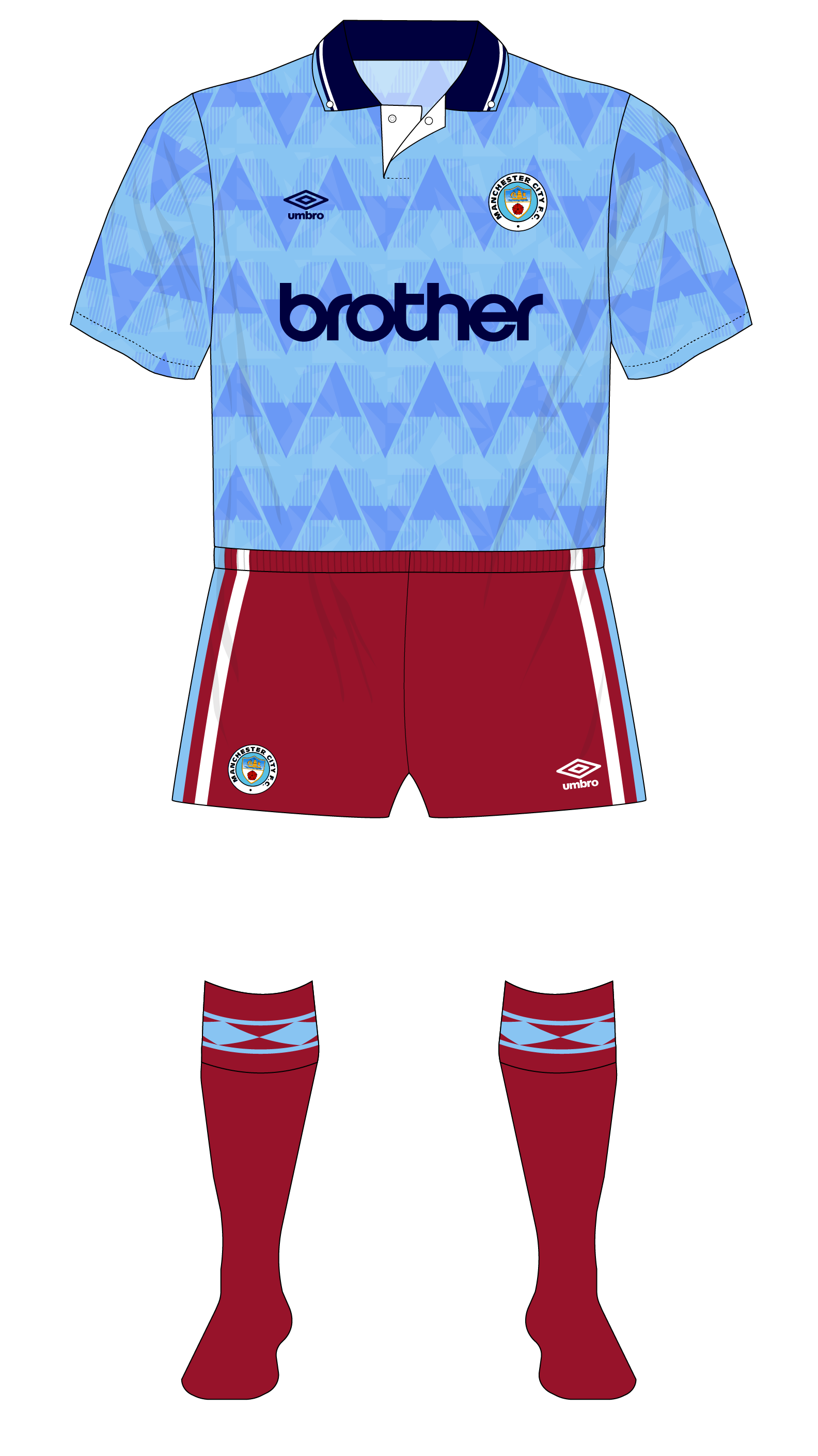 online store 84dcd 3a913 Manchester-City-1989-1990-home-shirt-away-shorts-socks-Aston ...