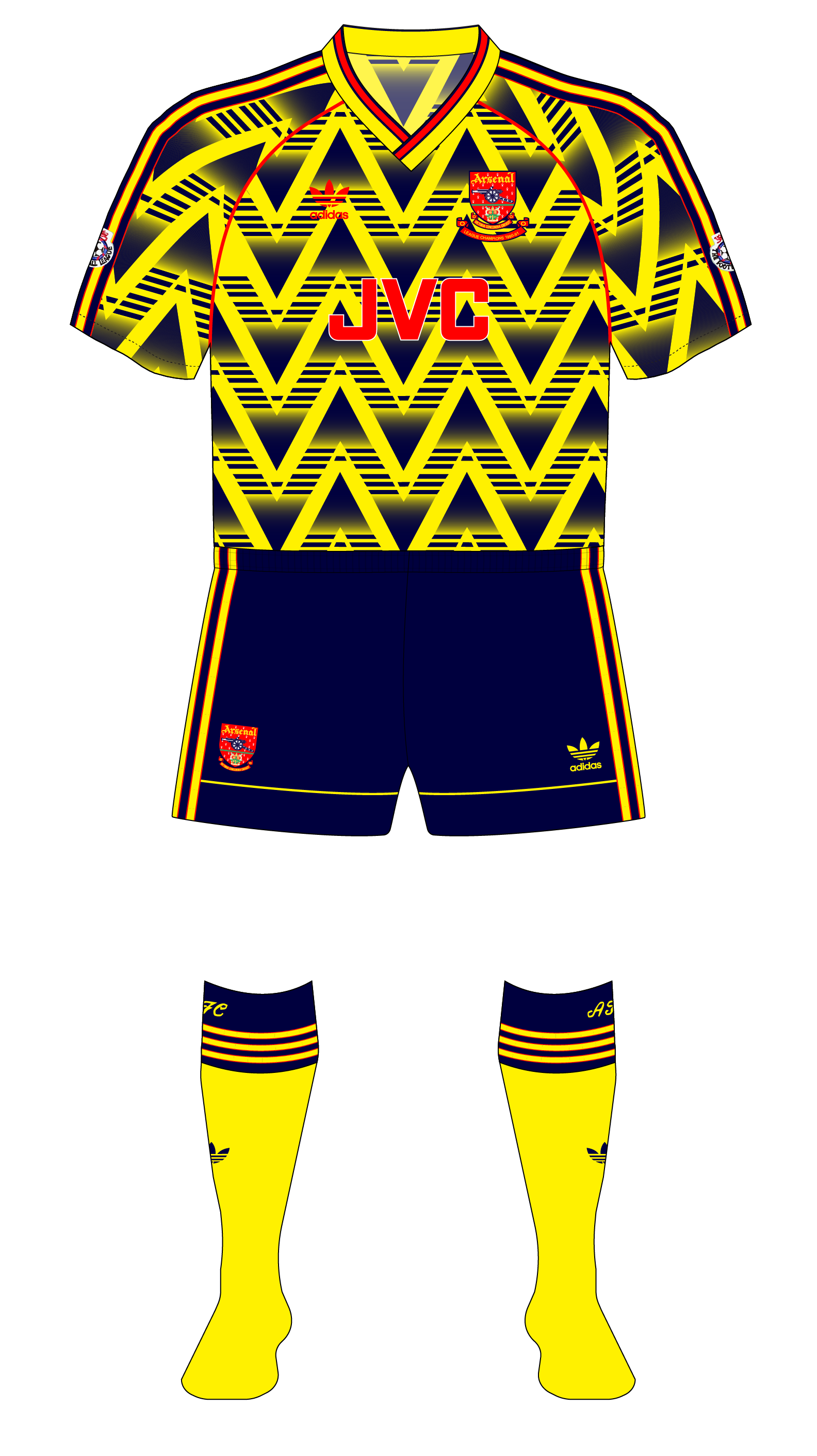 low priced e2a1e 5b7ad Arsenal-1991-1992-adidas-away-kit-shirt-bruised-banana-01 ...