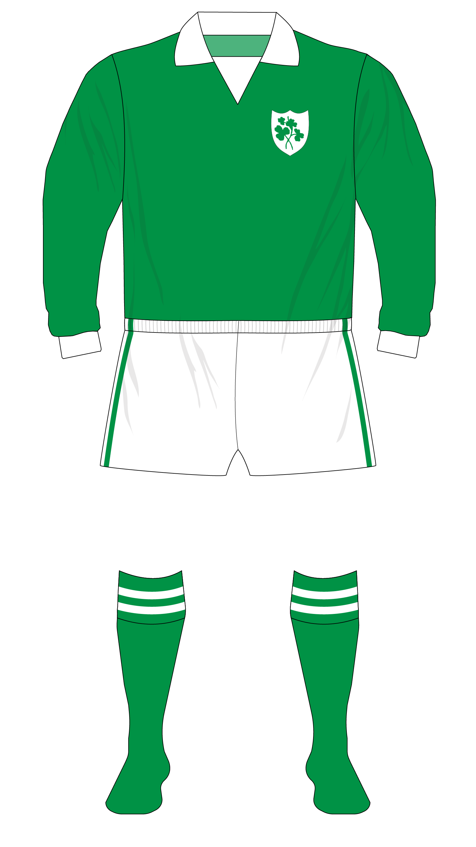 Republic of Ireland 1974 ONeills jersey 01