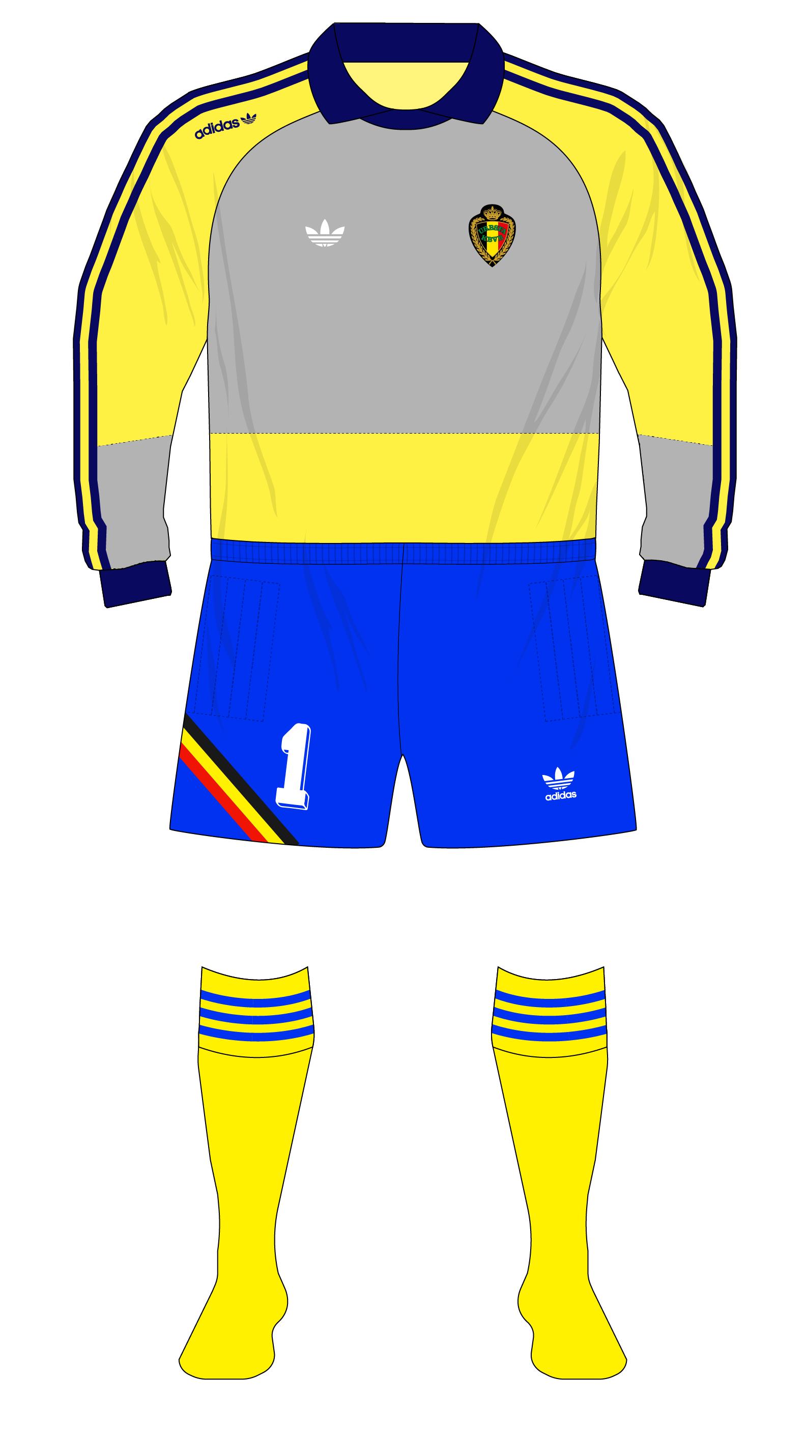 59b634399 Belgium-1990-adidas-goalkeeper-shirt-World-Cup-Preud homme-yellow-01 ...