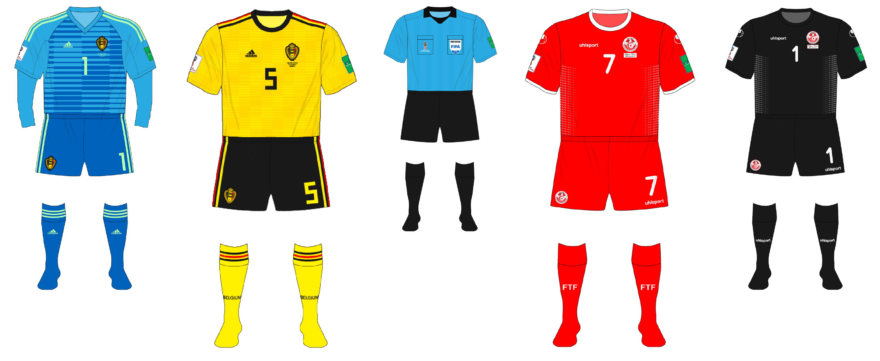 de95f59d2a0 2018 World Cup kit-tracker – Group G completed – Museum of Jerseys