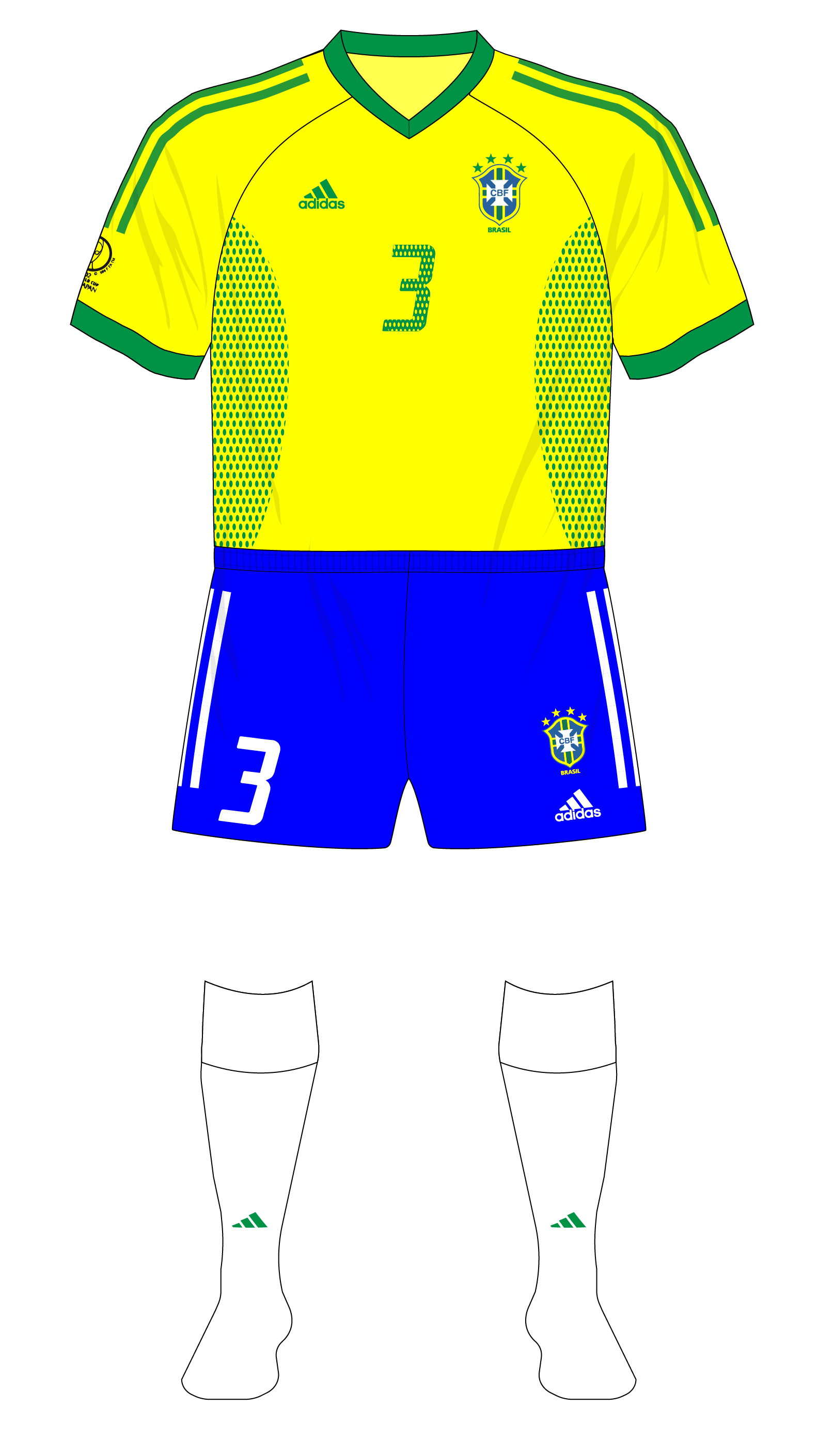 2fe028b6491 Fantasy Kit Friday – Brazil winning the World Cup in adidas – Museum of  Jerseys