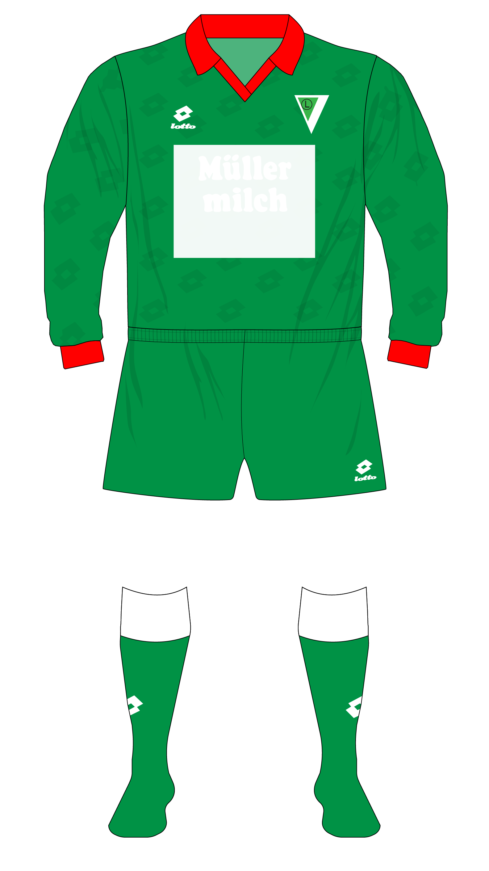 When Legia Warsaw wore kits by three different makers in the one season –  Museum of Jerseys e91c35f9b