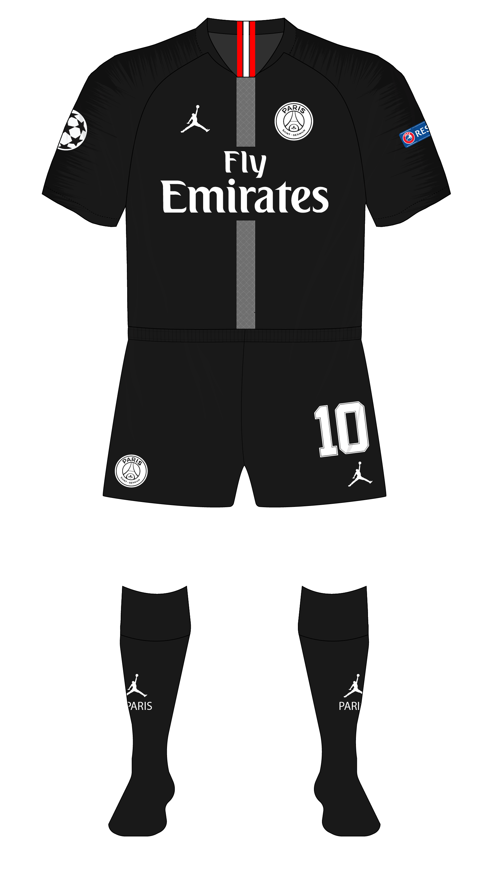 quality design d6247 e6b82 Paris-St-Germain-2018-2019-Jordan-Champions-League-home ...