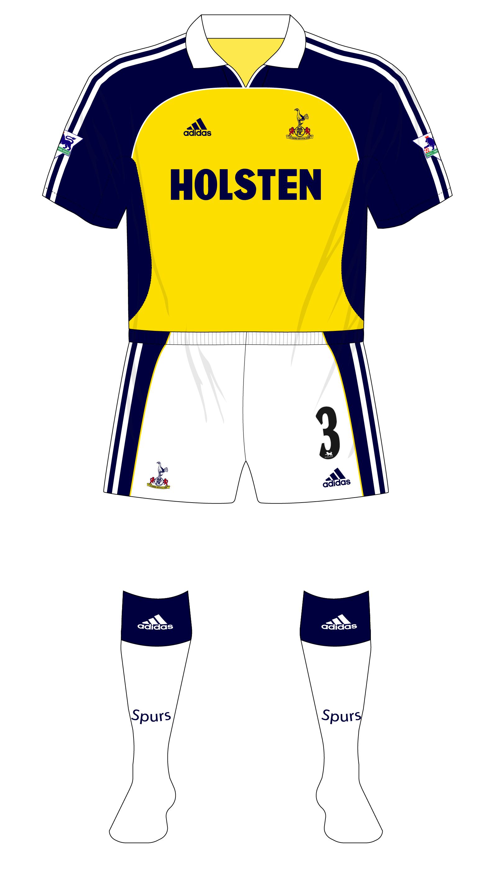 Tottenham Hotspur Spurs 1999 2000 Adidas Away 01 Museum Of Jerseys