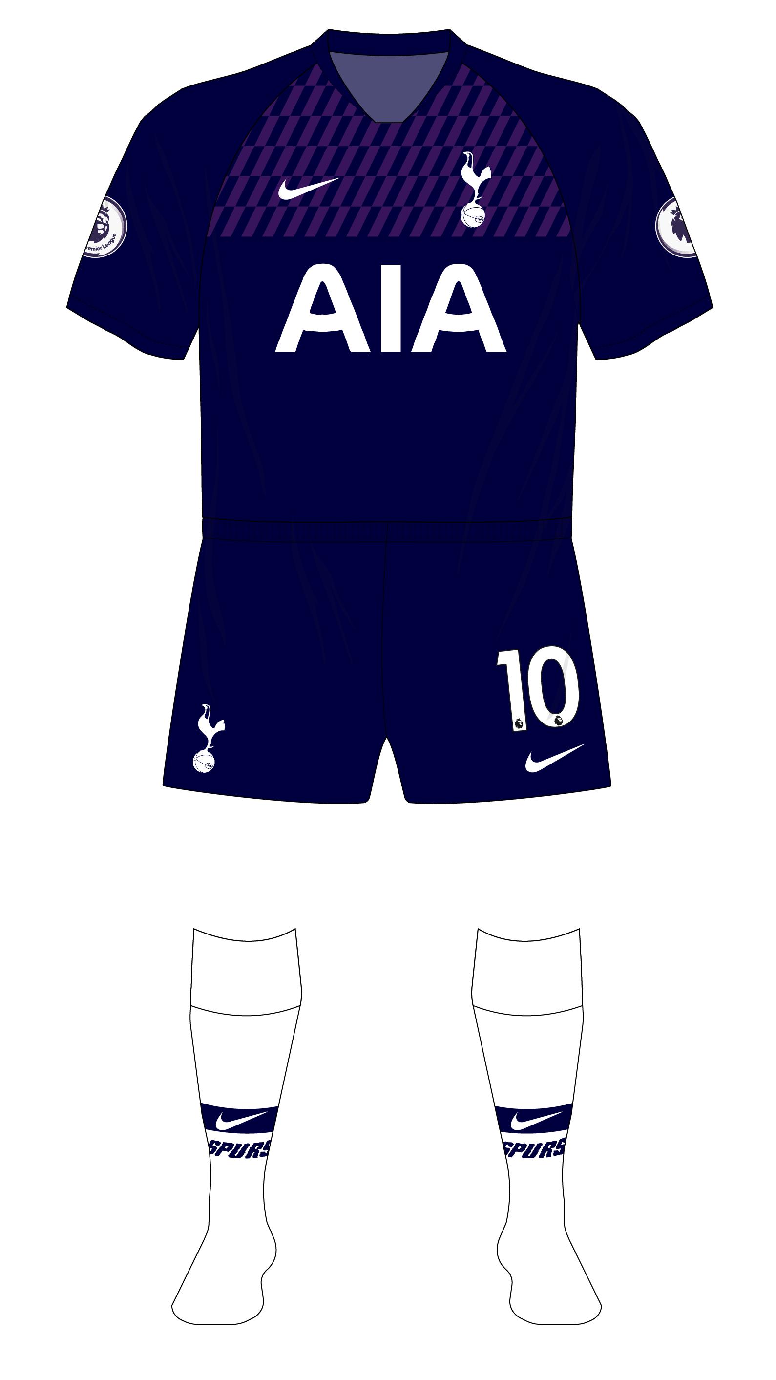 Tottenham Hotspur Spurs 2019 2020 Nike Away White Socks Museum Of Jerseys