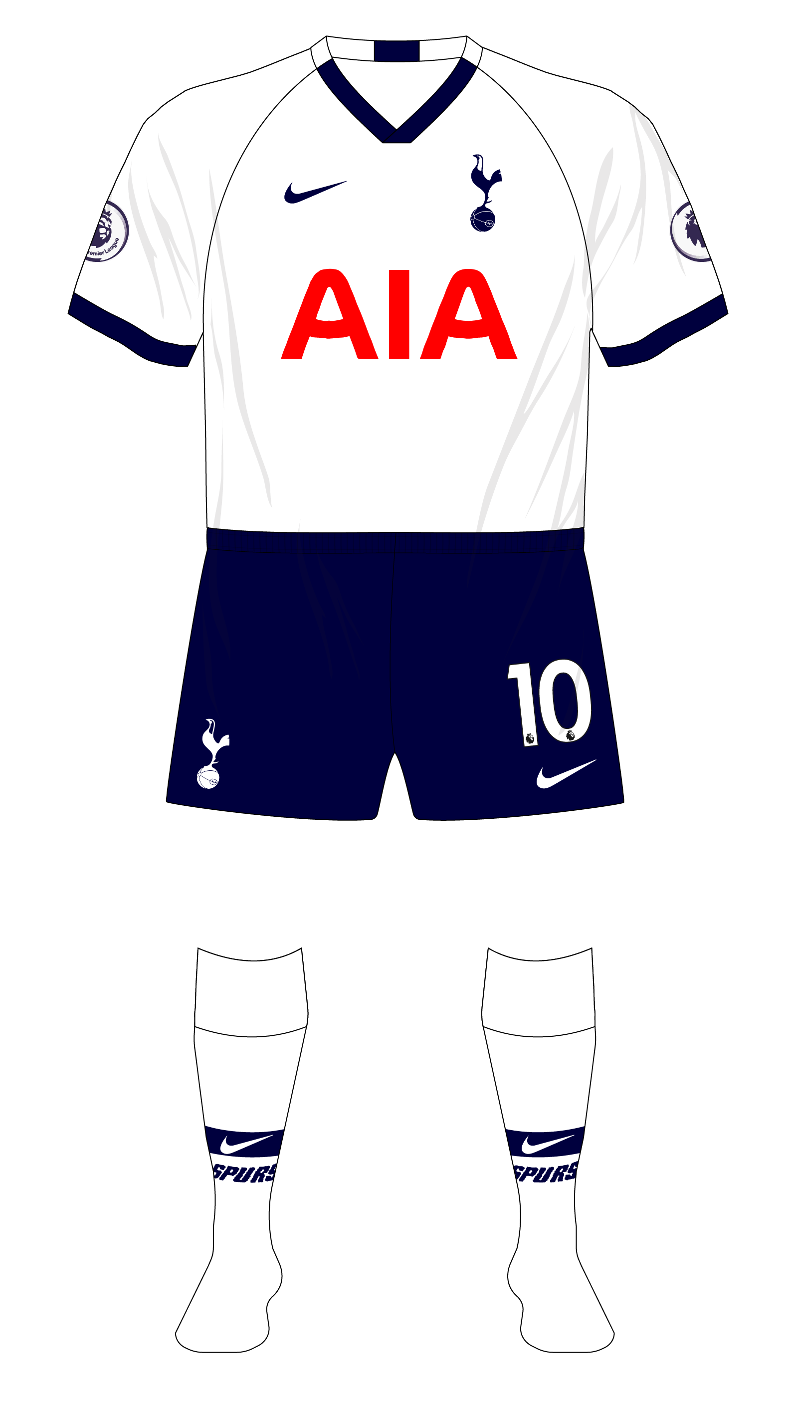 Tottenham Hotspur Spurs 2019 2020 Nike Home 01 Museum Of Jerseys